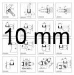Shower seal profiles for 10 mm glass