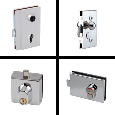 Locks for glassdoors