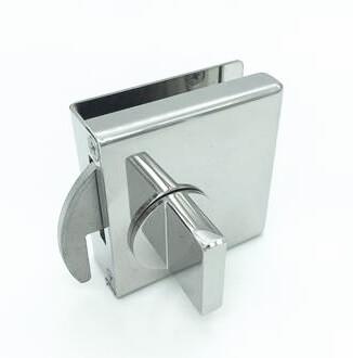 Stainless-steel MINI-PL lock for sliding door