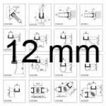 Profils d'étanchéité pour verre de 12 mm