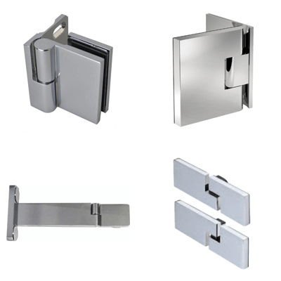 Lift-and-lower hinges for showers