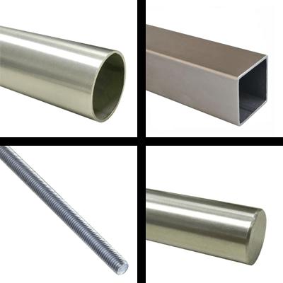 Tubes, bars & stainless steel threaded rods