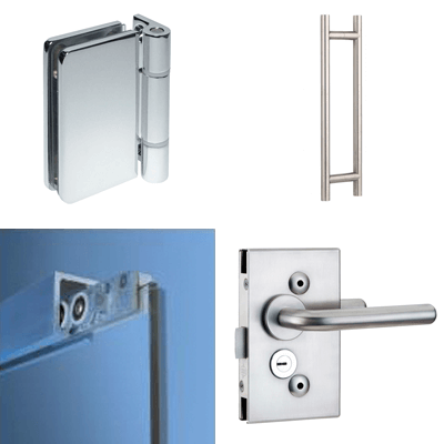 Fittings for glass doors
