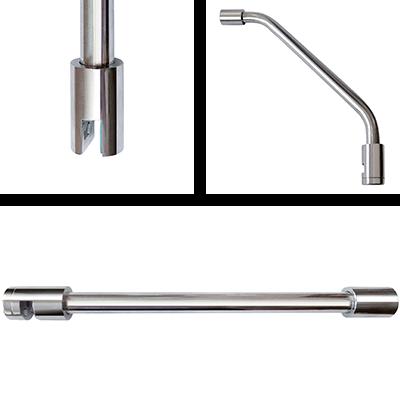Stabilization bars, stainless steel, tube Ø 15 mm