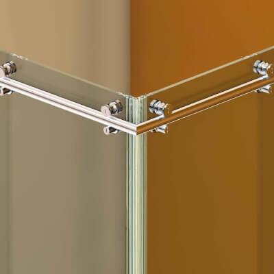Schiebetürsystem für Duschen Colcom Hip-Zac, runde Laufschiene