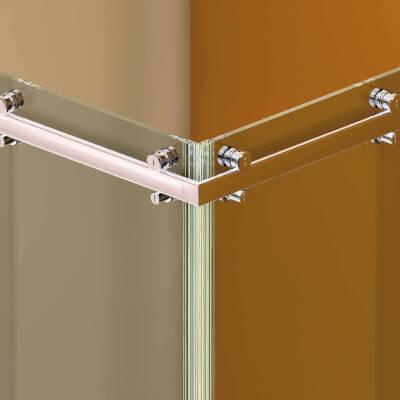 Schiebetürsystem für Duschen Colcom Hip-Zac, eckige Laufschiene