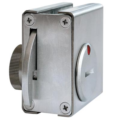 Stainless-steel MINI-PL-PLUS lock for sliding door