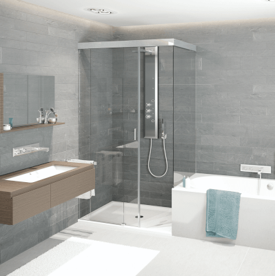 Sliding door systems for showers GRAL SF 740 PREMIUM