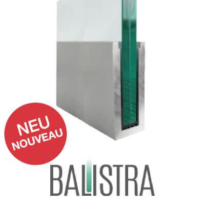 Profil de balustrade BALISTRA U110