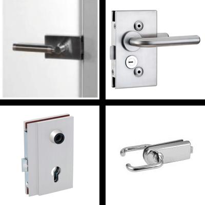 Revolving door locks