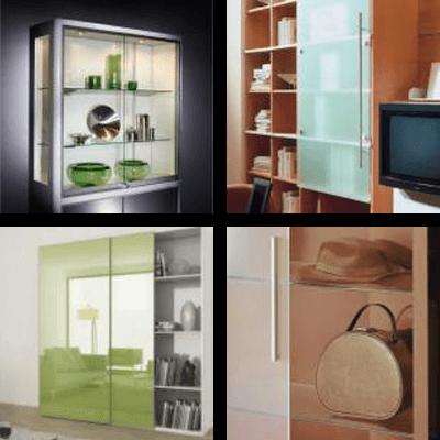 Sliding furniture door fittings