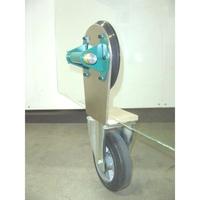 Glas-Transportroller mit 200 mm Vollgummirad, Saugheber 200 mm mit Hand-Vakuumpumpe