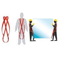 Schulter-Kreuztragegurten verstellbar mit Lederbesatz