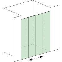 Aquant 40, Set complet pour douche entre deux murs, porte souble, 2x Comfort Stop et Perfect Close