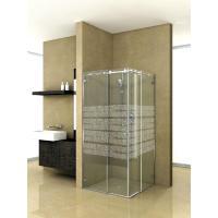 Duschtürsystem Hip-Zac, Komplett-Set für Eckdusche, zweiflüglig, mit Eckeinstieg, runde Laufschiene