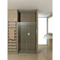 Duschtürsystem Hip-Zac, Komplett-Set für Nischendusche, eckige Laufschiene