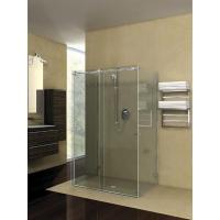 Duschtürsystem Hip-Zac, Komplett-Set für U-Dusche, runde Laufschiene