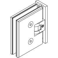 Glastürscharnier BlackLine Standard, schmale, hochkantige Lasche