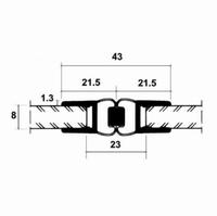 Magnetdichtungsprofile für Duschen 180° fluchtend, Lieferung paarweise