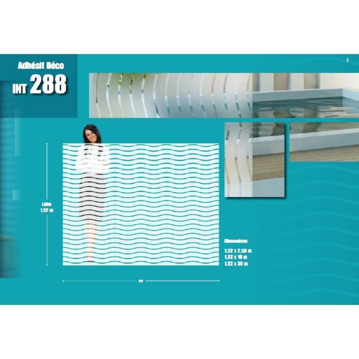 Dekorationsfolie Wellen 45 Mm 10 Mm Klar Int 288