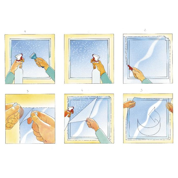 Dekorationsfolie Mit Transparenten Quadraten Int 470