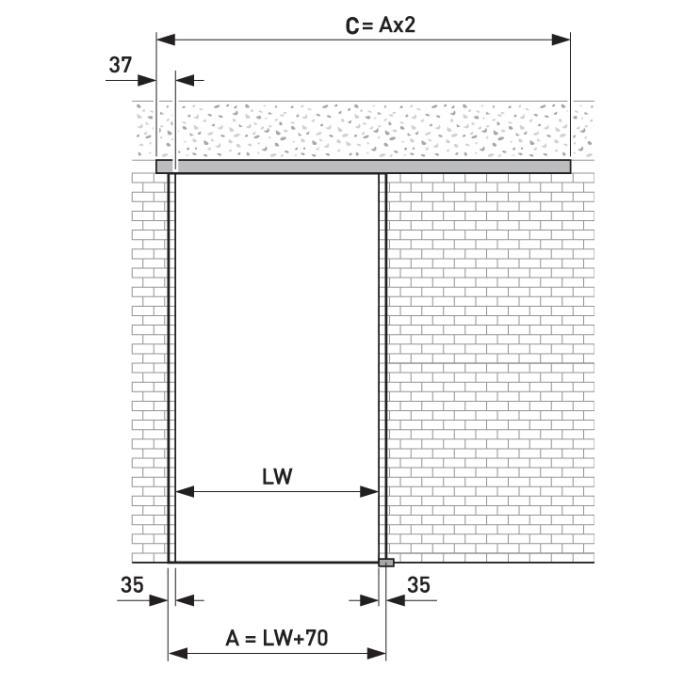 portavant 120 komplett set einfl gelig 1x comfort stop. Black Bedroom Furniture Sets. Home Design Ideas