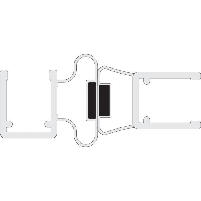 Joints de douche magn tiques 90 pour portes va et vient - Joint magnetique pour porte de douche ...