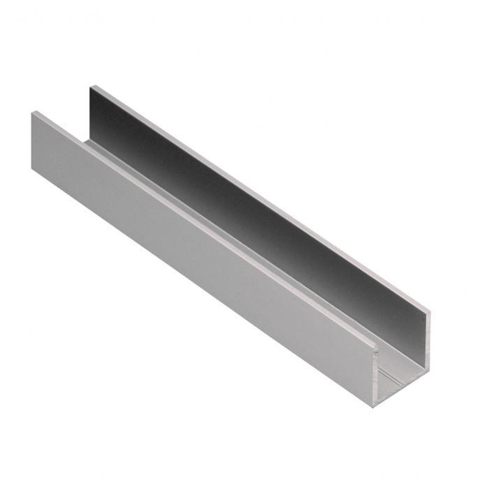 Aluminium uprofil Cable Cover 1,5 MM U Bracket Aluminium U-Profile Anthracite Grey
