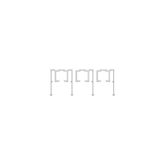 portavant 150 multiline profil set 3 schienen. Black Bedroom Furniture Sets. Home Design Ideas