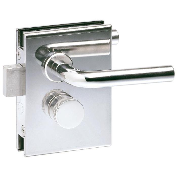 Drehtürschloss PS-MINI mit beidseitigem, festem Griff & einseitigem Riegelknopf