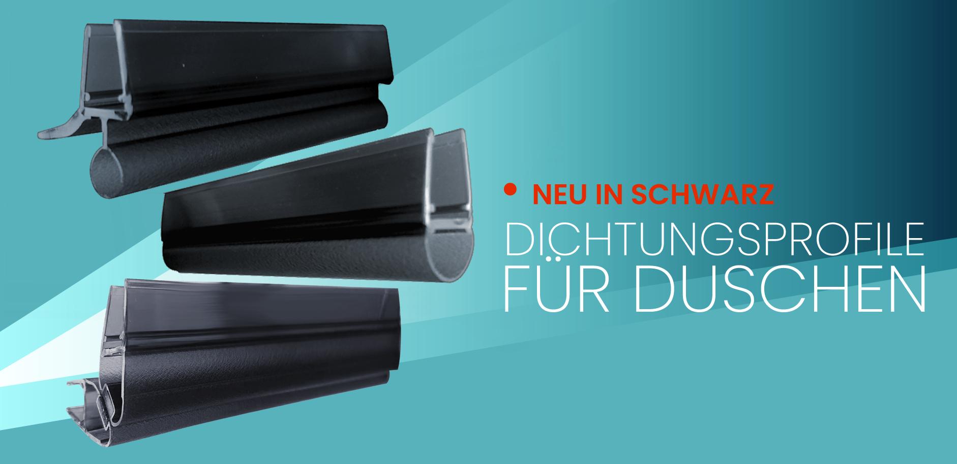 neu in schwarz dichtungprofile f r duschen. Black Bedroom Furniture Sets. Home Design Ideas